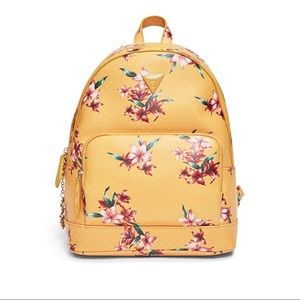 Guess Yellow Floral Backpack